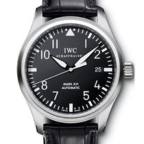 IWC Classic Pilot Mark XVI Steel Black Men's Watch IW325501