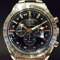 Omega Speedmaster Broad Arrow GMT Co-Axia Chronograph