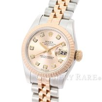 ロレックス (Rolex) Datejust Diamond Index Pink Gold Steel 26MM...