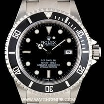 Rolex Stainless Steel Black Dial Sea-Dweller Gents B&P 16600
