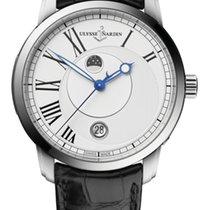 Ulysse Nardin CLASSIC LUNA Steel Case Dial White Leather Black...