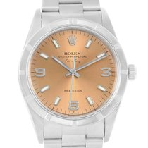 Rolex Air King Stainless Steel Salmon Dial Mens Watch 14010...