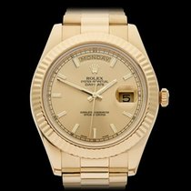Rolex Day-Date II 18k Yellow Gold Gents 218238 - W3955