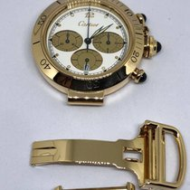 Cartier Pasha Chronograph Date 18k Gold 38mm Quartz