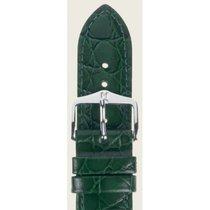 Hirsch Uhrenarmband Leder Crocograin grün M 12302840-2-14 14mm