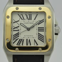 Cartier Santos Gold and Steel 100 XL