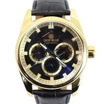 Deep Blue Fleet Admiral Watch Auto Calendar 100m Wr Rose Gold...