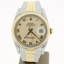 Rolex Datejust 36mm Steel/Gold Jubellie (BOX1983) BeigeRomanDial