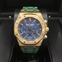 Audemars Piguet Royal Oak Chronograph Yellow Gold Blue Dial
