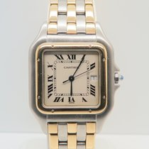Cartier Panthere 18k Gold Steel 3 Gold Lines 29mm (With...