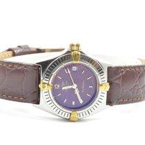 Breitling Callistino Damen Uhr Stahl/gold Rot Schöne Uhr Vintage
