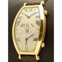 Cartier | Tonneau Dual Time 18kt Yellow Gold