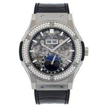 Hublot Classic Fusion Aerofusion Moonphase Titanium Diamonds...