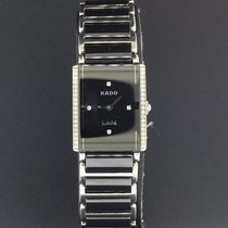 Rado Integral 18.5mm Ladies Black Diamond Dial Black Ceramic...