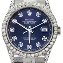 Rolex Datejust Men's 36mm Satin Navy Dial Stainless Steel...