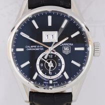 TAG Heuer Carrera GMT Calibre 8 Edelstahl 41mm Big Date Black...