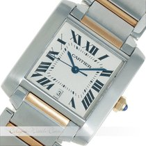 Cartier Tank Anglaise Stahl / Gold Automatik