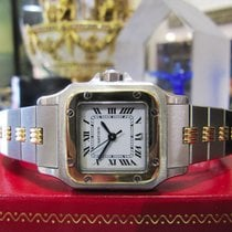Cartier Santos Galbee Ladies Steel 18k Gold Date Automatic Watch