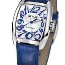 Locman History 486N00MWNBL0PSB White Pearl Blue Quartz Men
