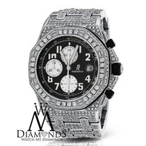 Audemars Piguet Diamonds  Royal Oak Offshore Watch With Black...