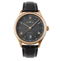 Fortis TERRESTIS 19FORTIS p.m. Gold Date Automatic Black 9021321
