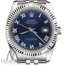 Rolex Navy Blue Rolex 26mm Datejust Roman Numeral Fluted 18k...