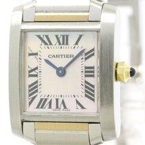 까르띠에 (Cartier) Tank Francaise 18k Pink Gold Steel Watch...