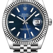 Rolex Datejust 41mm Stainless Steel 126334 Blue Index Jubilee