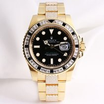 Rolex GMT-Master II 116748SANR 18K Yellow Gold Diamond