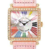 Franck Muller Master Square 18 K Rose Gold With Diamonds White...