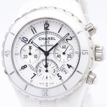 Chanel Polished Chanel J12 Chronograph Ceramic Automatic Mens...