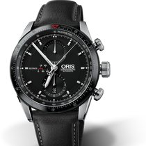 Oris MOTOR SPORT ARTIX GT CHRONOGRAPH Black Dial & Leather...