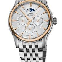 Oris Artelier Complication Gold/Steel Dial Steel Bracelet