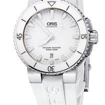 Oris Aquis Date White, Ceramic Top Ring, Rubber Bracelet