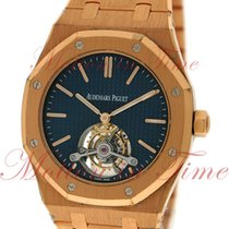 Audemars Piguet Royal Oak Tourbillon Extra Thin, Blue Dial -...