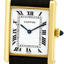 "Cartier ""Classic Louis Tank Paris"" Strapwatch."