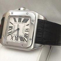 Cartier Santos 100 XL Steel White Roman Dial (51 x 40 mm)