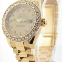 ロレックス (Rolex) Ladies Datejust President 18k Yellow Gold &...