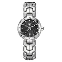 TAG Heuer Link Diamond Black Guilloche Dial Steel