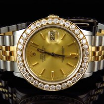 Rolex Mens Rolex Datejust 2 Tone 36MM 18k Stainless Steel Gold...