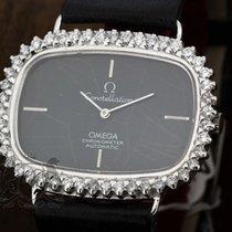 Omega Constellation Chronometer 18K White Gold Diamond Bezel 712