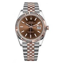Rolex Datejust II Steel and Rose Gold Chocolate Dial 41mm