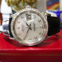 Rolex Oyster Perpetual Date 34mm Mother Of Pearl Diamond Watch