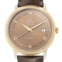 Omega De Ville 18k Rose Gold And Steel Brown Automatic...