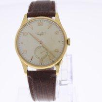 Longines Vintage Armbanduhr 18K Gold mit Handaufzug