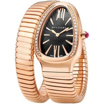 Bulgari Tubogas Serpenti 35mm Rose Gold Single Spiral