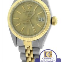 Rolex DateJust 26mm Tapestry 69173 Two-Tone 18K Yellow Gold...