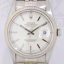 Rolex Datejust Saphirglas Weißgold/Stahl silver dial selten...