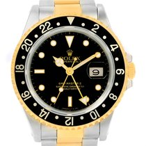 Rolex Gmt Master Ii Yellow Gold Oyster Bracelet Mens Watch 16713