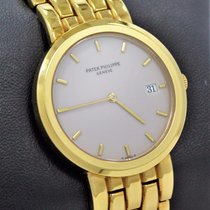 Patek Philippe Calatrava 3937/1j 18k Yellow Gold Watch Cream...